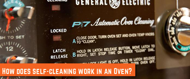 How does oven self-cleaning work