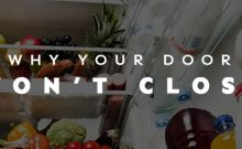 Why your refrigerator door won't close