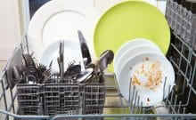 dishwasher top rack dishes not getting clean